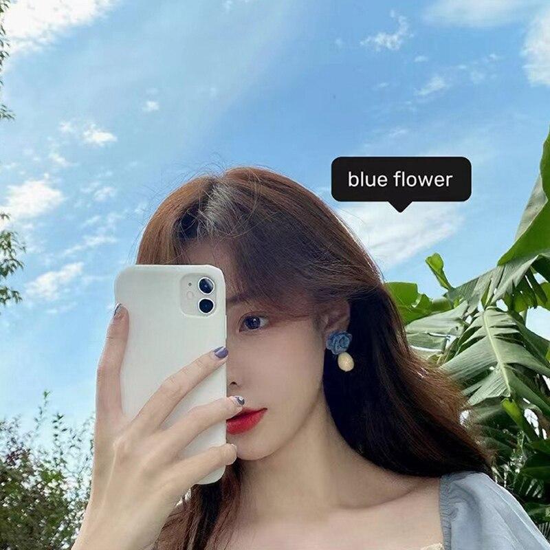 Женские Висячие серьги капельки mengjiqiao синие элегантные