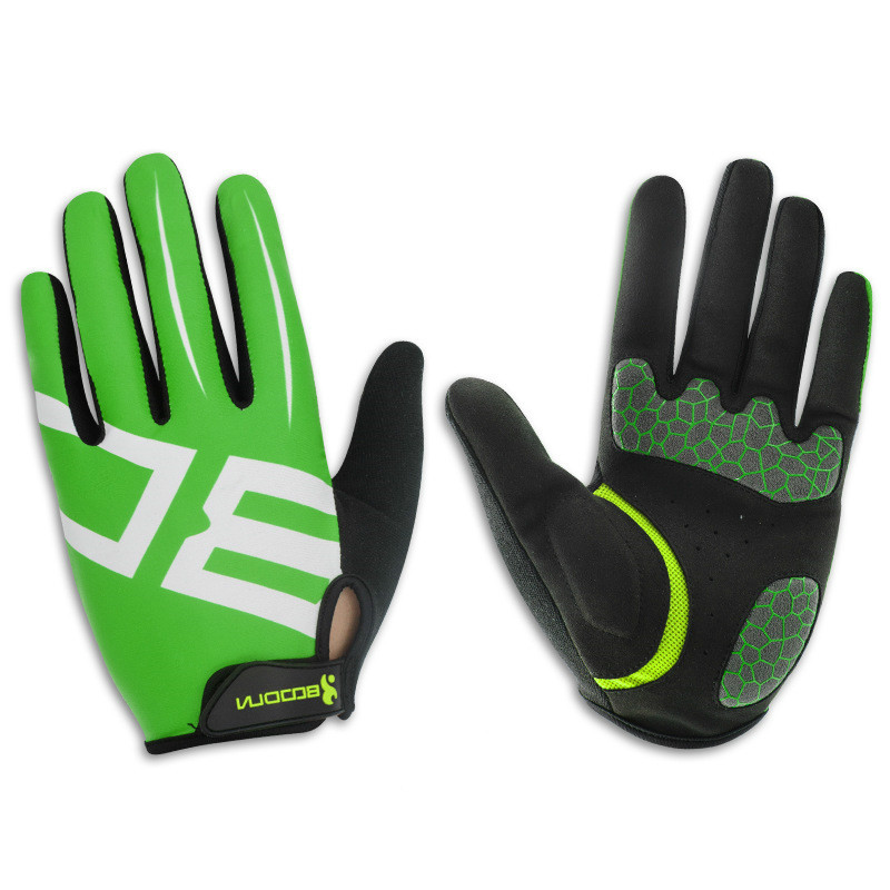 Breathable Men's Cycling Gloves Long Finger with Gel Pad Shockproof Sport Gloves Mtb Road Mountain Bicycle Bike Gloves