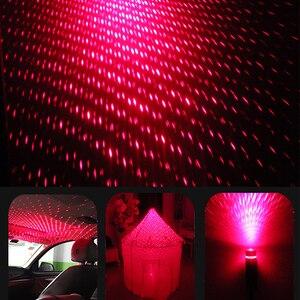 Image 4 - 周囲軽自動車のusbユニバーサルミニled車の屋根スターナイトプロジェクターライトランプ装飾装飾雰囲気ライト