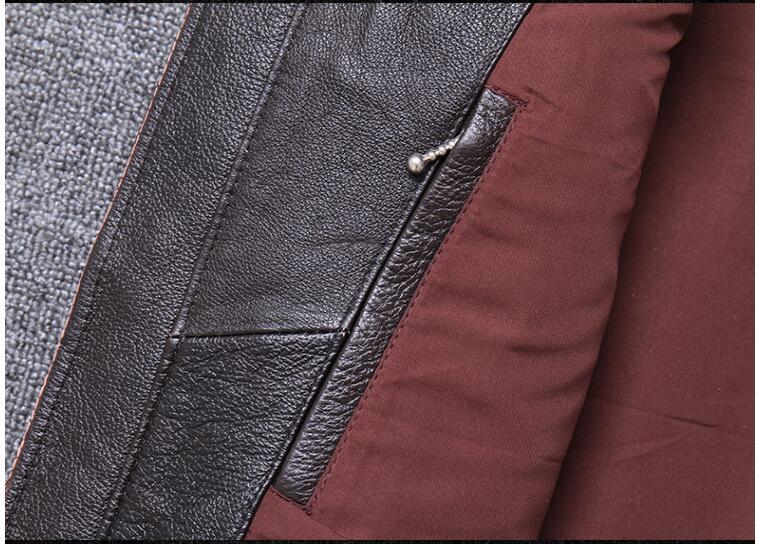 H836cdfd27eee4b37aa1cfcf314fb2aaa9 2019 Vintage Brown Men Slim Fit Motorcycle Leather Jacket Plus Size XXXXL Genuine Cowhide Spring Biker's Coat FREE SHIPPING