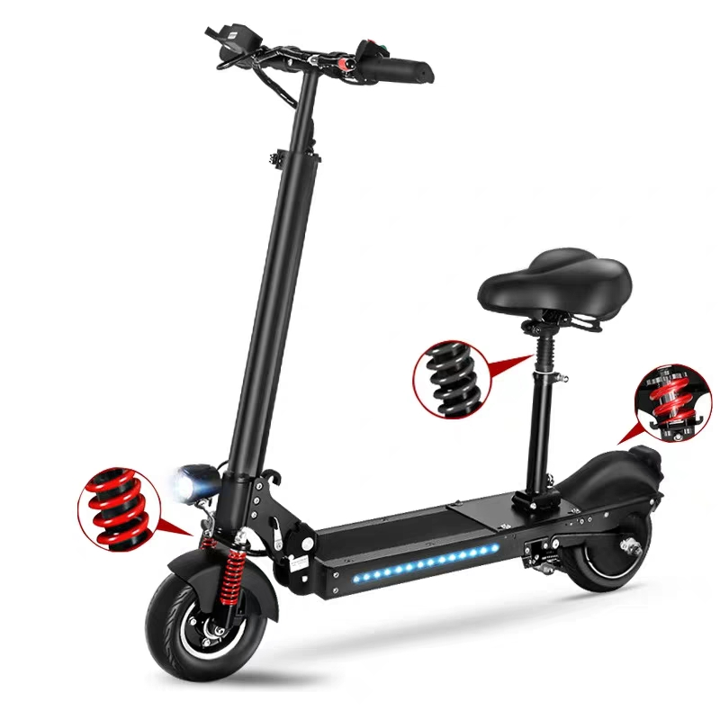 Fashion Adult Standing On Scooter Battery Powered Foldable Bicycle With Seat 8 Inch 2 Wheel Mini Folding Electric Bike