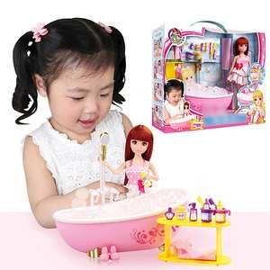 Rack Doll-Set Bath-Tub Play-House-Toys Bathroom-Accessories Gifts Girls And Furniture
