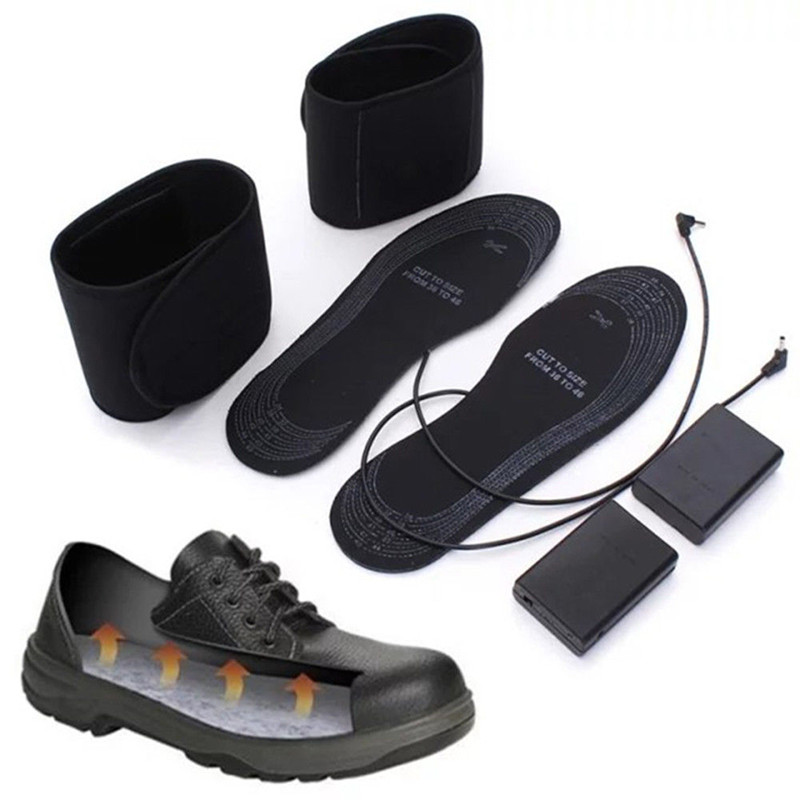 EPHER High Quality Winter Warming Shoe Insoles Size 38 To 46 USB Electric Heating Insole Battery Powered
