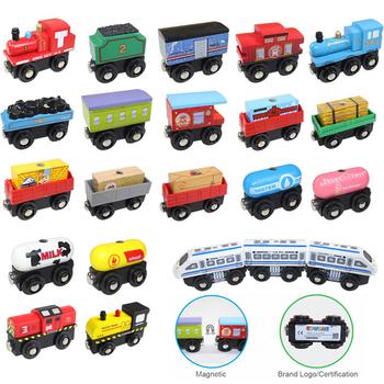 1 sztuk magnetyczne kolejka zabawkowa drewniane tory kolejowe akcesoria mogą być połączone różnorodność drewniany pociąg zabawki dla dzieci prezenty tanie i dobre opinie skxnier Drewna CN (pochodzenie) 6 lat Inne Diecast TR109R 1 22 Keep No Fire TRAIN Certificate Magnetic Train Toys Railway Car Toy