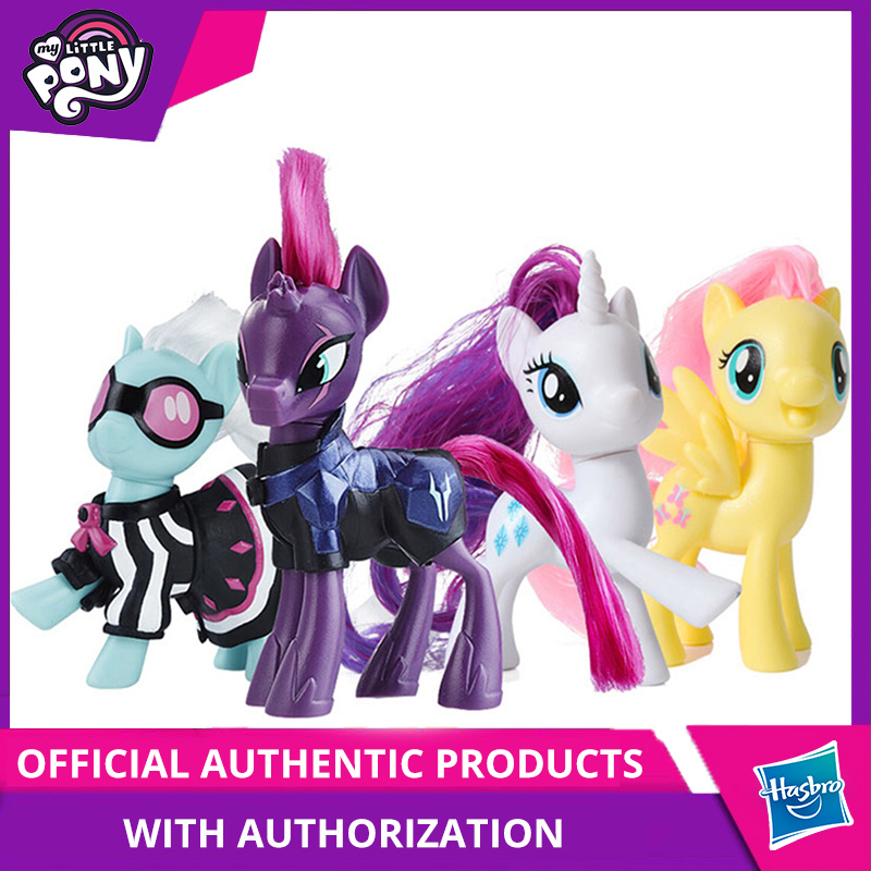 Hasbro My Little Pony Friends 3-Inch Fluttershy Rainbow Dash Pinkie Pie Lyra Heartstring Rarity Action Figure Collectible Toy(China)