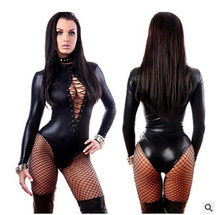 Leather Bodysuit Fetish Women Pvc Lingerie Latex Sexy Clubwear Wetlook Catsuit Sexy Lingerie Body Suit Lingerie Bodysuit Catsuit(China)