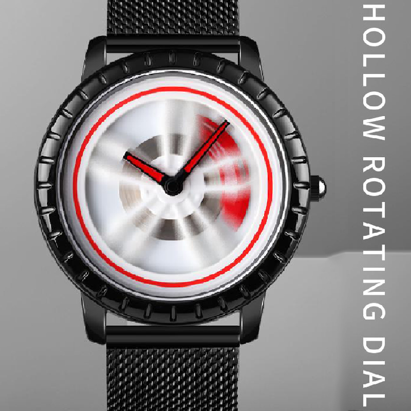 3D Car Wheel Rim Hub Watch Men Watches Rotation Rotating Dial Quartz Watch montre homme relojes para hombre relogios masculino