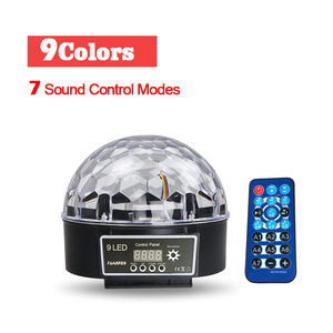 Image 2 - Upgrades Crystal Magic Ball Led Stage Lamp 7 Voice Control Modes 9 Colors Stage Lighting Disco Laser Light Party Lights Lumiere