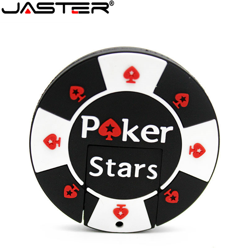 JASTER Bargaining Chip Shaped USB Flash Drive Pok Star Pen Drive Pendrive 4GB 8GB 16GB 32GB 64gb Wholesale Back Pack Pendant