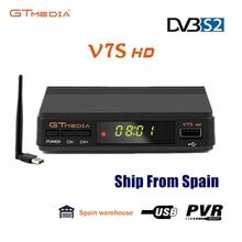Original Freesat GTMEDIA V7S Satellite Receiver Full 1080P DVB S2 HD Support usb wifi ship from poland spain no APP included