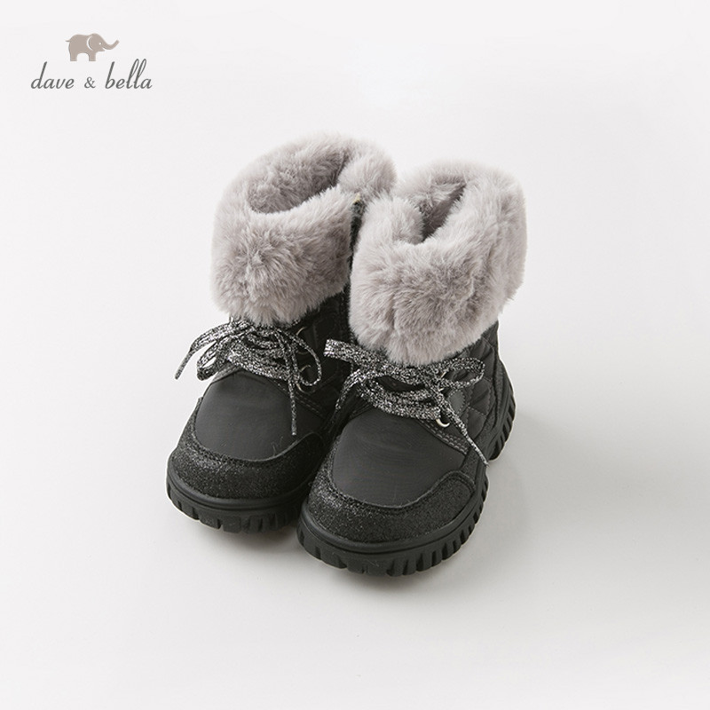 DB11603 Dave Bella hiver bébé garçon bottes chaussures de mode solide mode bottes bébé garçon chaussures