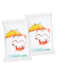 10 шт./пакет Портативный чистящие салфетки для лица Уход за кожей рук влажные салфетки