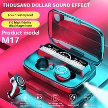 Tws sem fio bluetooth 5.0 esportes fone de ouvido com display led display digital, estéreo, sem fio, toque fone de ouvido à prova dwaterproof água
