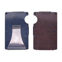 Mens Simple And Exquisite Carbon Fiber Non-Scanning Wallet With Back Buckle Anti-Theft Swipe RFID Card Holder