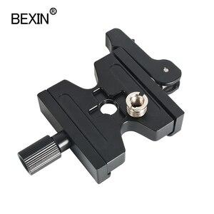 Image 2 - Statyw zacisk lustrzanka cyfrowa adapter do montażu regulowana gałka zacisk podwójna blokada szybkozłączka płyta zaciskowa do Arca Swiss statyw do aparatu