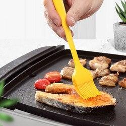 1PC prażenie silikonowe pędzel piekarski szczotki do olejowania do ciasta chleb przyrządy do pieczenia maślane bezpieczeństwa w kuchni szczotka do grilla