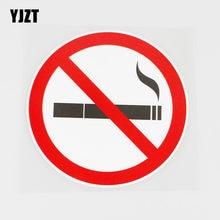 Yjzt 12.6cmx12.6cm fumar é proibido aqui pvc decalque carro adesivo gráfico 11b-0029