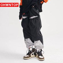 Big pocket Patchwork Harem Joggers Pants Men Cargo Pants Streetwear Hip Hop Harajuku Casual Fashion Loose Trousers Men Clothing(China)