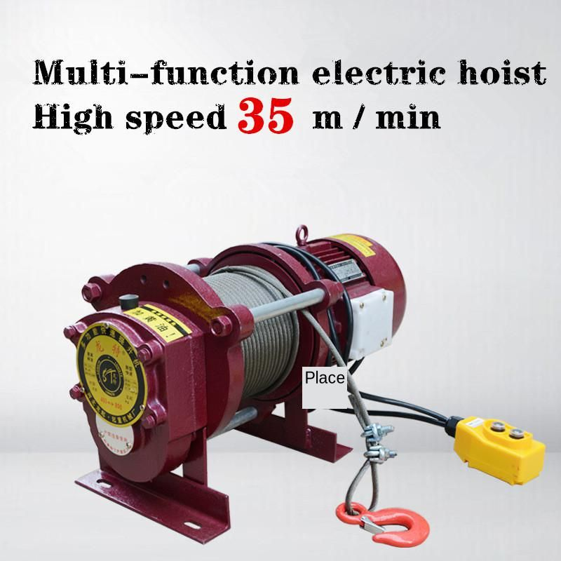 380V Multi-function Electric Hoist High Speed 35 M/min  Small Crane Small Electric  Hoist Lifting Weight: 400KG To 800KG