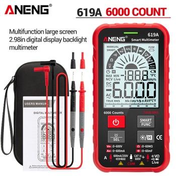 Multímetro Digital ANENG 619A, multimetro polimetro tester probadores de voltaje de corriente...