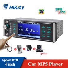 4 Inch 1Din MP5 Player Touch Bluetooth Car Radio Bidirectional Interconnection RDS AM FM 4 USB Support ISO Android Mirrorlink