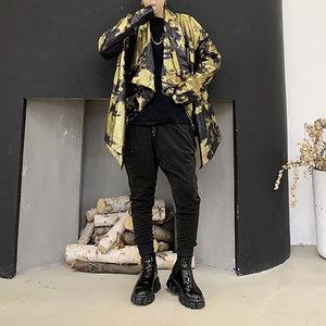 Image 5 - XITAO тренд бронзового цвета Блеск для губ куртка Для женщин Нерегулярные сценический Костюм Уличная плюс Размеры пальто Для женщин личности свободные топы ZLL4599