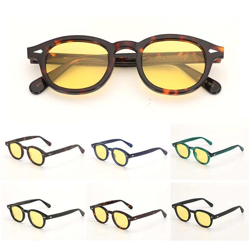 Night-Vision Glasses Johnny Depp Sunglasses Polarized lens Protective Gears Sun glasses Anti Glare Night Vision Drivers Goggles