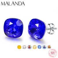 Kristalle Von Swarovski Stud Ohrringe Für Frauen Neue Mode Sterling silber Ohrringe Piercing Ohrring Elegante Hochzeit Schmuck