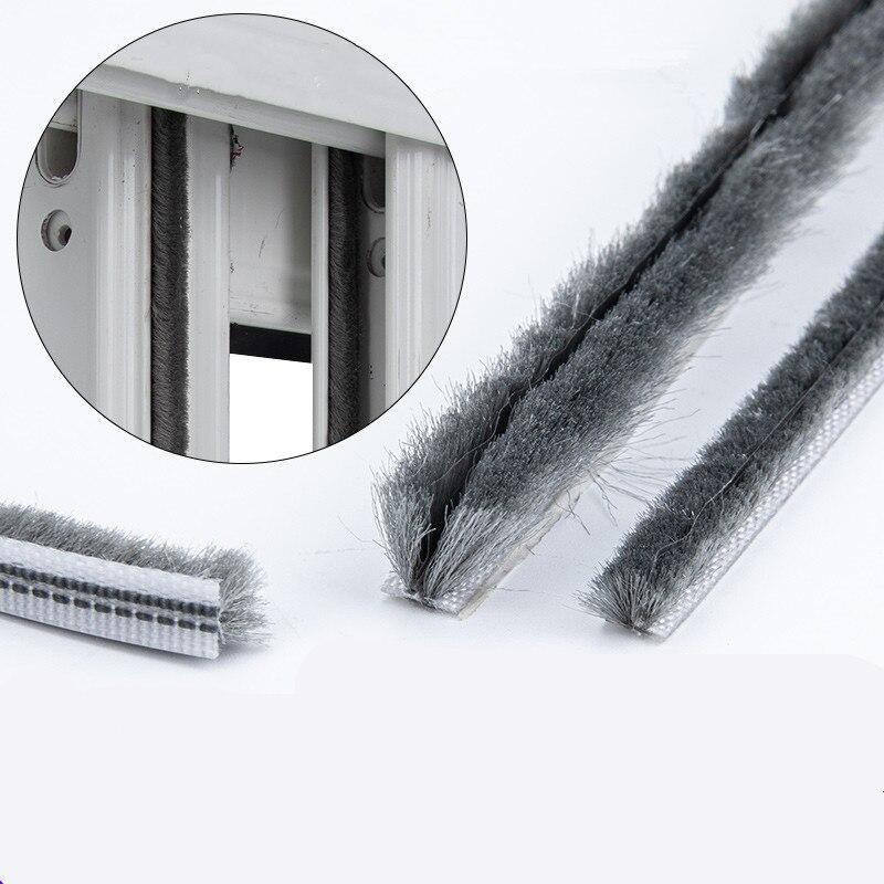 2 м упругая прямая уплотнительная лента для волос, нейлоновая уплотнительная щетка, Пылезащитная уплотнительная лента, оконный светильник, зазор, наполнитель Уплотнительные ленты      АлиЭкспресс