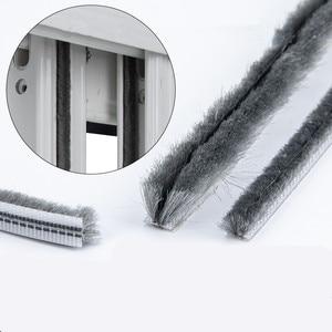 2M Elastic straight hair sealing strip Door Groove Nylon Pile Brush Seal dustproof weatherstrip window light gap filler blocker