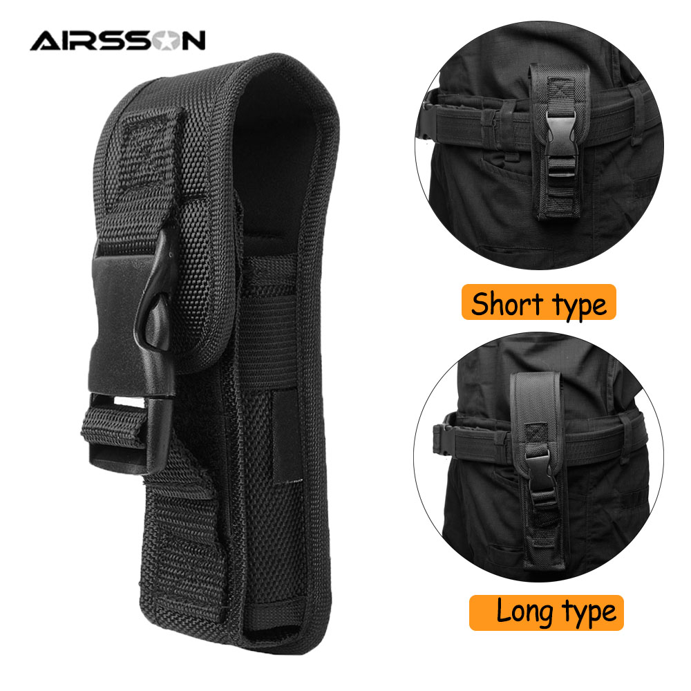 Tactical Flashlight Pouch Portable LED Torch Case Flashlight Holster For Duty Belt Molle Waist Bag Survial Tools For Hunting