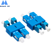 цена на Free Shipping 2pcs/lot  SC/UPC-LC/UPC Singlemode Optical Adapter SC Male to LC Female Double core  Fiber Optic Adapter