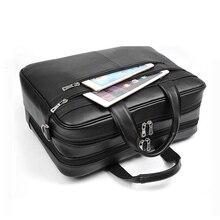 """Büyük kapasiteli siyah erkekler iş bilgisayar çantası yumuşak hakiki deri 17 """"Laptop çantası erkek sığır derisi Macbook Pro hava için 17"""
