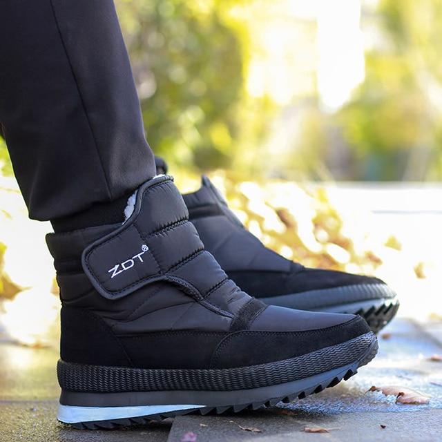 Men snow boots 2020 men winter shoes warm waterproof non-slip platform boots for men botas de hombres size 40 - 45 6