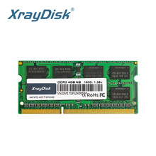 XrayDisk DDR3 DDR3L 4GB 8GB 1600Mhz SO-DIMM 1,35 V Notebook RAM 204Pin la memoria del ordenador portátil sodimm