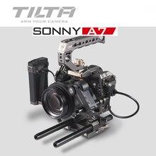 Полная Клетка Tilta A7 A9, комплект для установки, ручка для фотофокуса для Sony A7II A7III A7S A7S II A7R II A7R IV A9, клетка для установки