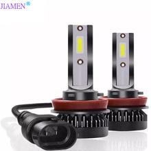 JIAMEN 2PCS H7 LED 100W/PAIR Mini Car Headlight Bulbs H1 H8 H9 H11 Headlamps Kit 9005 HB3 9006 HB4 Auto Lamps