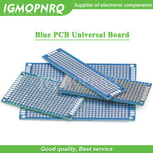 1 Uds. Tablero Protoboard de doble cara, tablero Universal azul PCB 2*8cm 3*7cm 4*6cm 5*7cm 7*9cm 2,54mm(China)