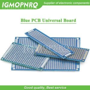 1pcs Double-Sided Protoboard Breadboard Universal Board blue PCB 2*8cm 3*7cm 4*6cm 5*7cm 7*9cm 2.54mm