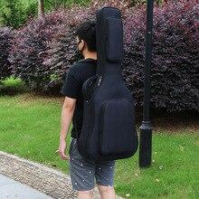 40/41 дюймов Классическая Акустическая гитара сумка рюкзак Регулируемый плечевой ремень портативный утолщенный мягкий черный