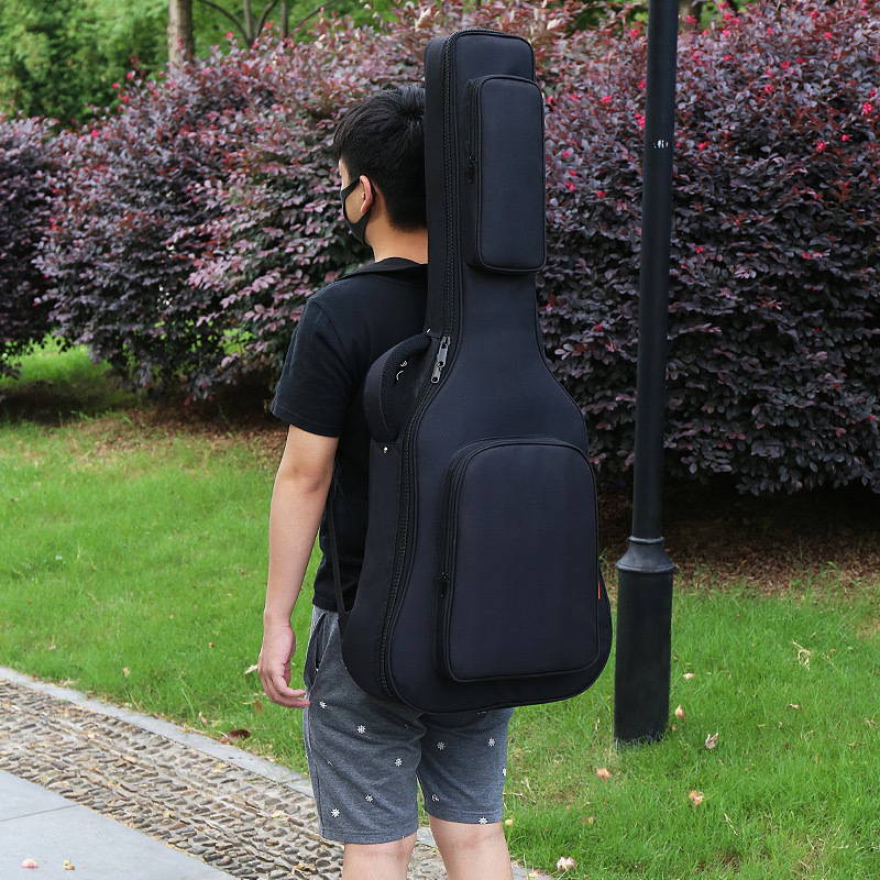 40/41 Inch Acoustic Classical Guitar Bag Case Backpack Adjustable Shoulder Strap Portable Thicken Padded Black