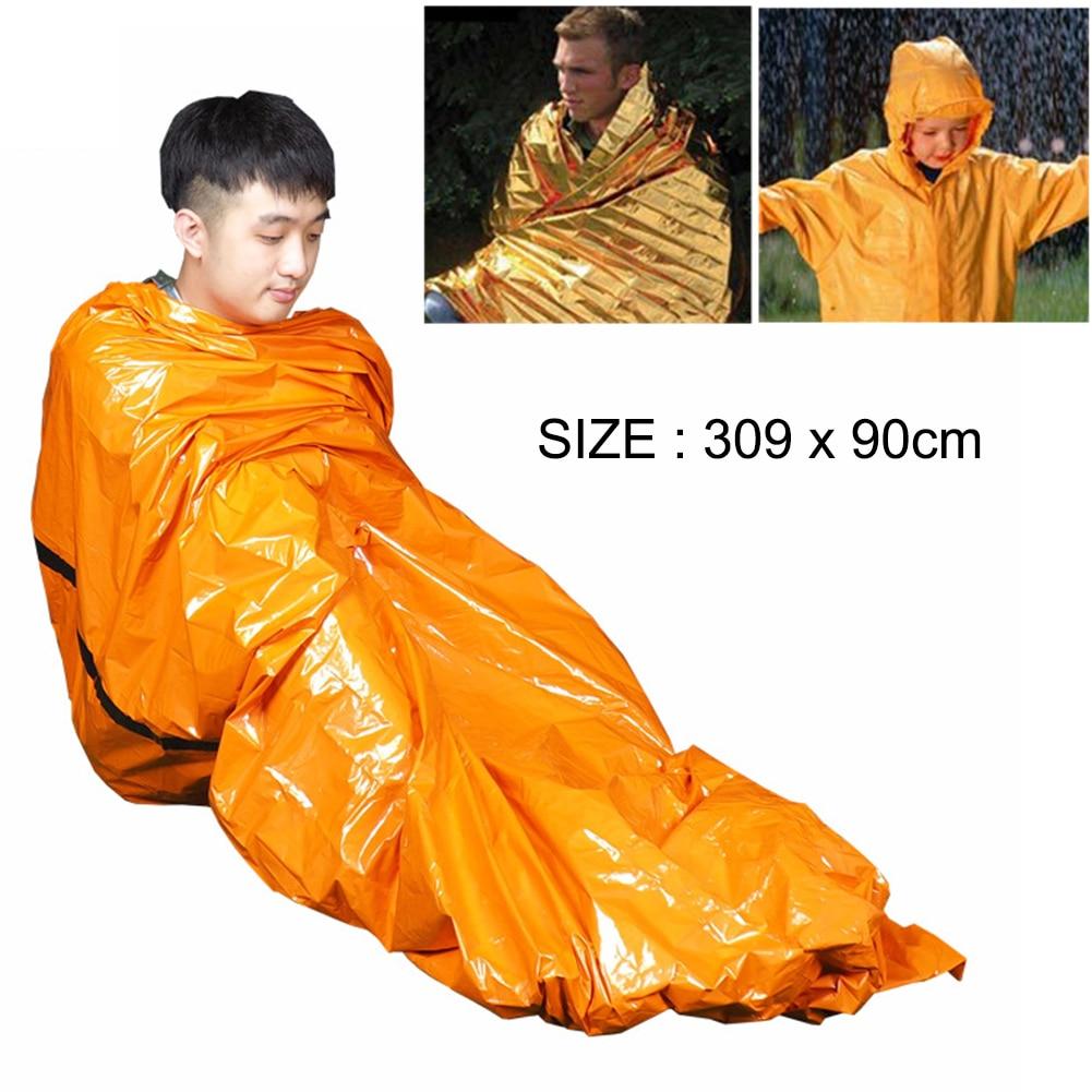Waterproof Outdoor Sleeping Bags Portable Emergency Camping Travel Folding Bag Survival Thermal Blanket Professional Tool S16