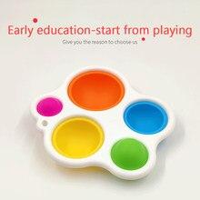 Simples sensorial dimple brinquedos bebê educação precoce brinquedo inteligência placa de desenvolvimento bebês e crianças 6 meses e até presente do brinquedo