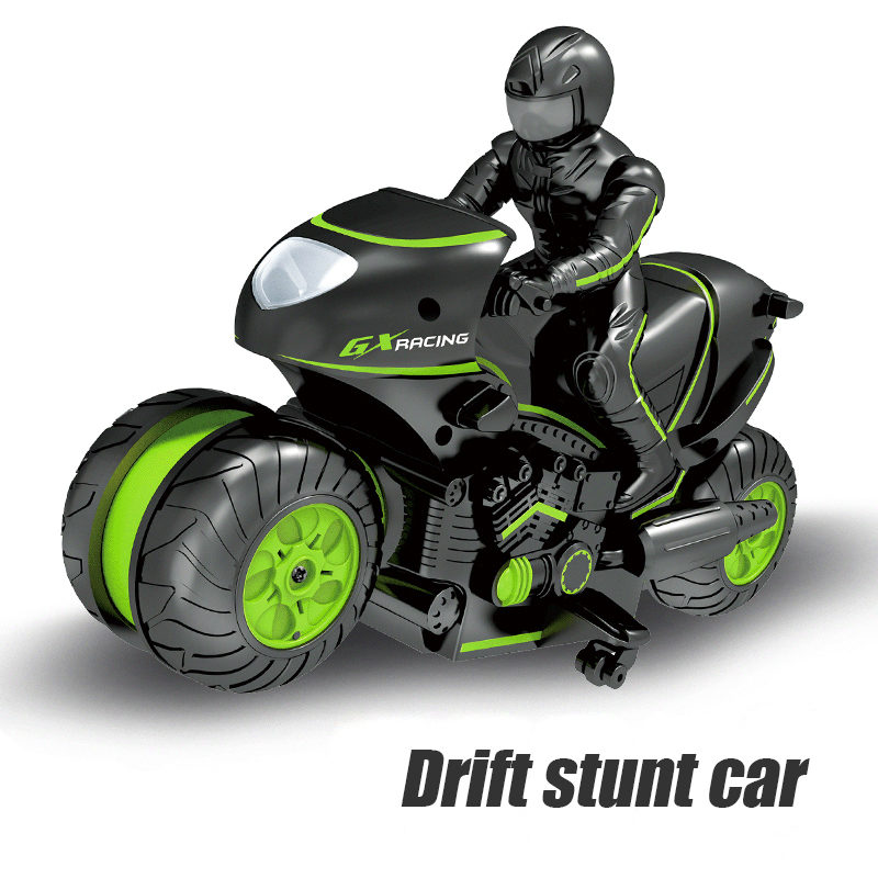 Brangdy Child Toy Stunt Model Remote Control Car Figure Drift Rotating High Speed Doll Hand-made Motorcycle Ornaments Boy Gift