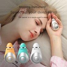 Microcurrent carregamento usb dispositivo de ajuda ao sono mão segurando instrumento alívio da pressão hipnose sono rápido instrumento relaxar massageador