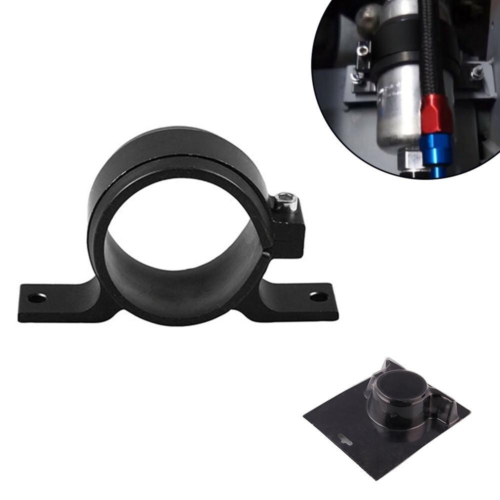 Alloy 60mm External Fuel Pump Filter Mounting Bracket Clamp Cradle Holder Black