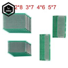 20 шт./лот 5x7 4x6 3x7 2x8 см, двухсторонний прототип, «сделай сам», универсальная печатная плата, печатная плата для Arduino