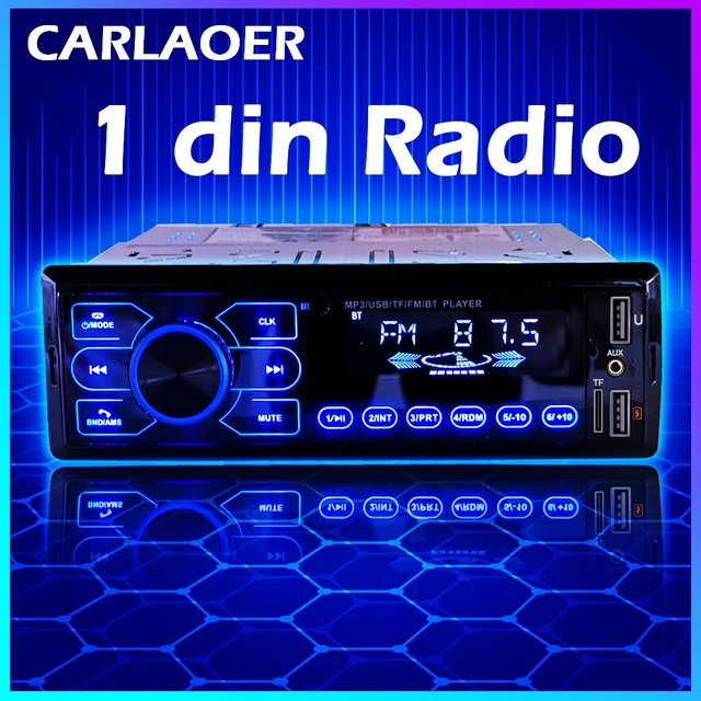 Auto Radio Stereo Player Bluetooth AUX IN MP3 FM USB 1 Din Auto Auto 1DIN Für Kia Hyundai Toyota Ford Nissan mitsubishi Suzuki ISO