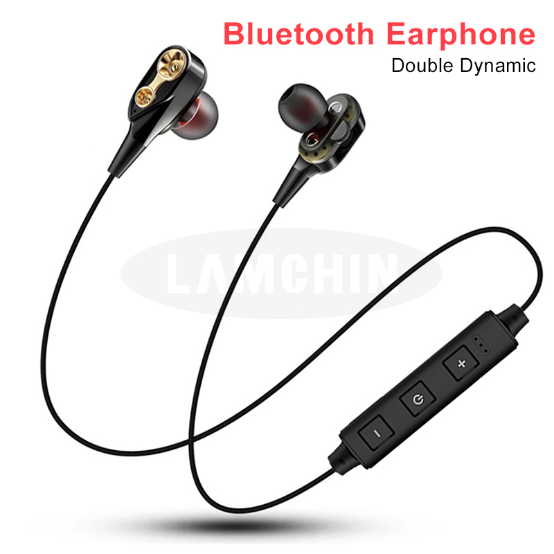 Wireless Bluetooth Earphone Double Dynamic Hybrid High Quality Stereo Headset Bluetooth 5.0 Sport Headset For Xiaomi Iphone