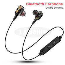 Wireless Bluetooth Earphone Double Dynamic Hybrid High Quality Stereo Headset Bl
